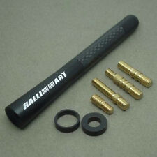 "NEW JDM RALLIART BLACK CARBON FIBER 4.7"" INCH ANTENNA SHORT Mitsubishi All Model"