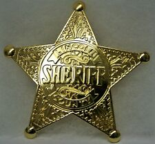 Unique Reproduction Badge    GOLD-TONE LINCOLN CO SHERIFF    Law Enforcement