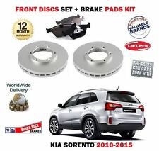 FOR KIA SORENTO 2.2 CRDi 2.4i 2/2010- NEW FRONT BRAKE DISCS SET + DISC PADS KIT