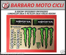 ADESIVI MONSTER ENERGY USA SPESSORATI IN RILIEVO 8 PEZZI 34X24 CARENE MOTO