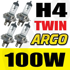 TWIN BI XENON 100W H4 4500K HI-LOW HID BULB FREE SHIPPING CLEAR 472 P43T