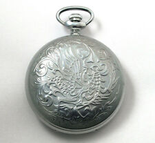 Vintage Russian pocket watch Molnija Firebird Soviet USSR