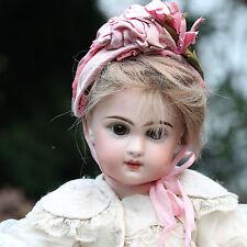 ANTIQUE JUMEAU TETE DEPOSE BISQUE DOLL 1880s CLOSED MOUTH No. 5 ORIGINAL DRESS