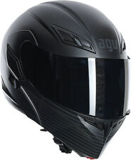 AGV Numo Evo Audax Modular/Flip-Up Motorcycle Helmet (Flat Black) M (Medium)