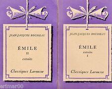EMILE ou de l'Education / T: I-II // Classiques Larousse // ROUSSEAU // Extraits