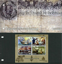 Jersey 2014 MNH Pirates & Privateering 4v M/S Presentation Pack Ships Stamps