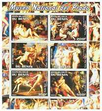 Prado Museum Nude Paintings on Stamps - 6 Stamp Mint Sheet - MNH 8505