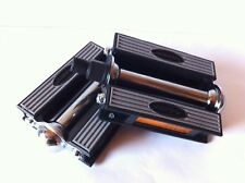 "BICYCLE CRUISER VINTAGE PEDALS 1/2"" GRAY/BLACK CYCLING BIKES NEW"