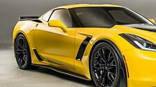 C7 CORVETTE | Z06/Z07 (stock) STYLE SIDE SKIRT SET | CARBON FLASH
