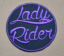 LADY RIDER EMBROIDERED IRON ON PATCH Aufnäher Parche brodé patche toppa BIKER