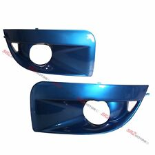 BLUE FOG LAMP LIGHTS BEZEL BUMPER COVER FITS FOR 04 05 SUBARU IMPREZA WRX STI