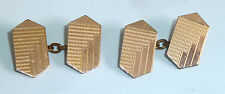 A VINTAGE PAIR OF ART DECO GOLD FRONTED CHAIN LINK CUFFLINKS