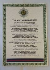 Scots Guards Poem British Army Foot Guards Division Battalion Regiment