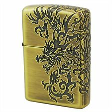 Zippo Tribal Dragon 3-Sides Antique Brass Plating Japan Limited F/S Oil Lighter