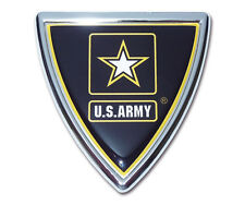 army shield military logo chrome auto car emblem usa made