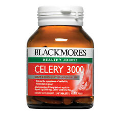 Blackmores Celery 3000 50 Tablets - Celery Seed Relief Arthritis Rheumatism Gout