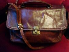 THE BRIDGE Vintage Leather SHOULDER BAG - Large