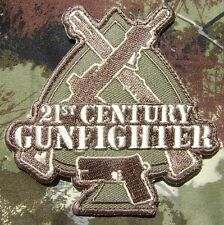 21st CENTURY GUNFIGHTER ISAF ARMY MORALE COMBAT MULTICAM HOOK PATCH