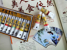 12 CHINESE WATER COLOR 5ml INK TUBE BRUSH WRITING PAINTING JAPANESE CRAFT PAINT