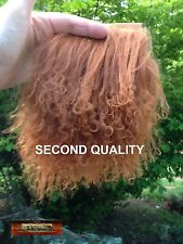 M00331 MOREZMORE Tibetan Lamb Fur LEATHER BROWN Seconds Doll Baby Hair Wig NSS