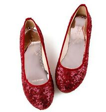 New Casual Women's Flats Sequins Round Court Shoes College Girls Shoes All Sizes