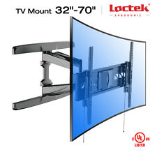 Loctek R2L UHD HD HDTV Curved LCD LED TV Wall Mount Bracket 32 42 50 55 60 65 70