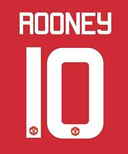 Rooney 10 Manchester United 2016-2017 Europa Home Football Nameset for shirt