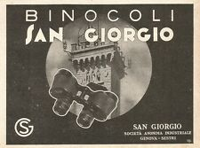 W2890 Binocoli San Giorgio - Genova Sestri - Pubblicità del 1937 - Old advert
