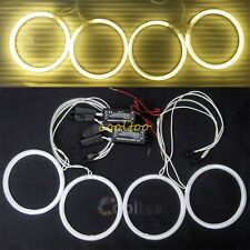 BMW E30 E32 E34 CCFL ANGEL EYES HALO RINGS Full Ring Light bulbs kit - Yellow