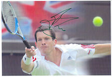 Hand Signed 8x10 photo - TIM HENMAN - WIMBLEDON TENNIS GB