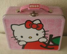Hello Kitty Lunch Box, Carry All Tin Metal Collectible Box