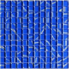 1 QM Glasmosaik Blau Weiss Mix 2,3x2,3cm Granit Fliesenspiegel Mosaik Boden Bad