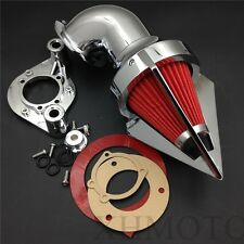 Chromed Triangle Spike Air Cleaner Kits For Harley Dyna Touring models