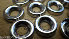 100 SURFACE SCREW CUP WASHERS NICKEL PLATED  SUIT NUMBER 10 GAUGE SCREWS
