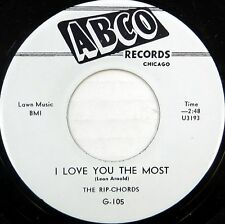 THE RIP-CHORDS 45 I Love You the Most ABCO Doo Wop NEAR MINT Repro #BB2048