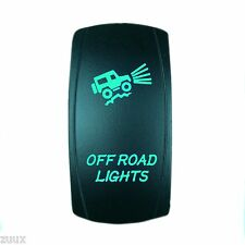 ROCKER SWITCH OFF ROAD LIGHTS GREEN LED JEEP TRUCK WRANGLER