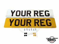 Set Of Car Number / Reg Plates DVLA/MOT Legal UK Front & Rear With Free Postage