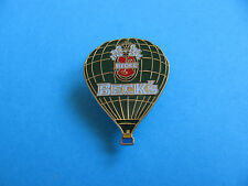 BECK's Pilsner Lager Hot Air Balloon pin badge. VGC. Unused. Enamel. Becks