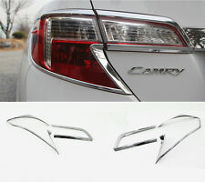 Rear Chrome Tail Lamp Molding Trim Garnish 4p For 2012-2014 Toyota Camry