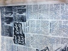 T1-2 ephemera  1953 picture article 1 page how the robe film was made