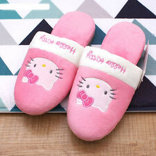 Hello Kitty Slippers House Indoor Shoes Women's HelloKitty Plush Shoes Pink