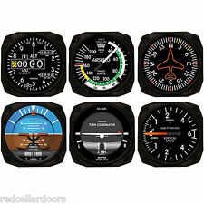 Trintec Aircraft 6 Instrument Coaster Set of 6 Navigator Coasters Aviator New