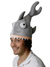 Shark Bite Hat Eating Head Fancy Dress Animal Jaws Sea Halloween Mens Ladies New