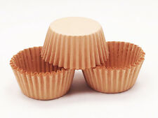 48 MINI Brown Kraft Craft Paper Greaseproof Cupcake Liners Baking Cups