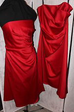 NWT Lot of 2 matching bridesmaid dresses, Cherry Alfred Angelo 6129 SZ 14 & 16