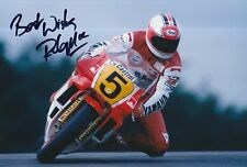 Rob McElnea Hand Signed Photo 12x8 Marlboro Yamaha MotoGP 3.