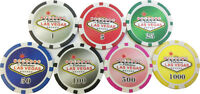100 LAS VEGAS SIGN 11.5 g CLAY COMPOSITE POKER CHIPS 1-5-25-50-100-500-1000*