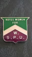 Suffragette Chevron Badge Brooch Suffragettes Jewellery & Free Velvet Gift Pouch