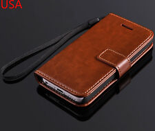 SALE Deluxe PU Leather Wallet Case Folio Flip Cover For Apple iPhone 5C