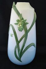 Gallant Craft Porcelain Factory Green Orchid Vase Original Art 11.25 in High